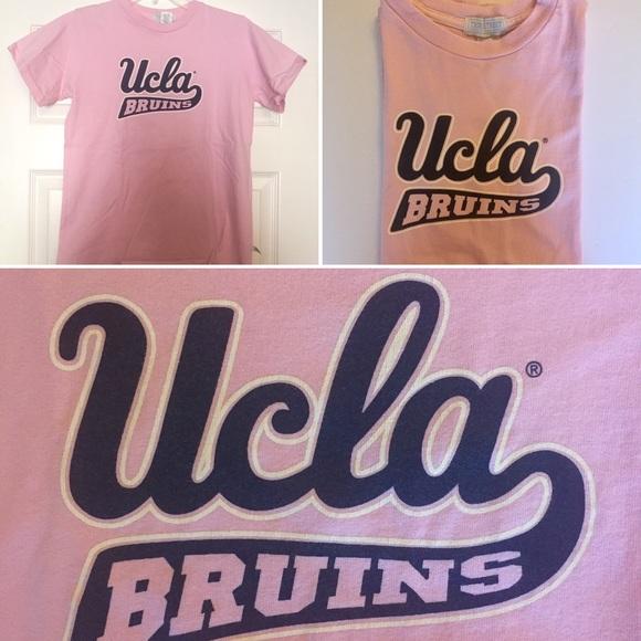 UCLA Bruins Script T-shirt in Pink & Blue